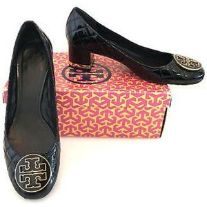 Tory Burch Quilted Patent Maggie Pumps, Sz 7.5
